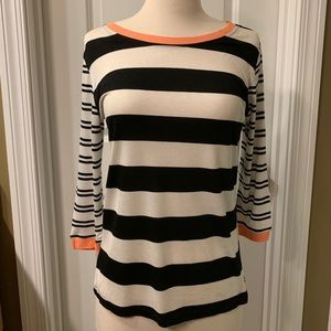 Tart Blue and White Stripes Top Size Small NWT